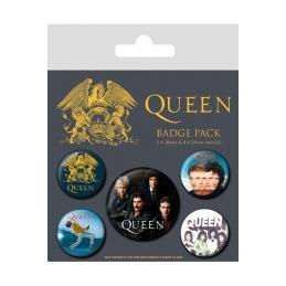 QUEEN, Queen pack de 5 badges Classique