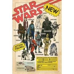 Star Wars, Poster Action Figures Star Wars