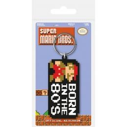 Super Mario Bros Keychain Born in the 80's, Mario/Nintendo