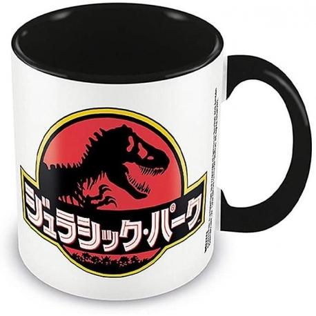 Jurassic Park mug Coloured Inner Japanese Text, Jurassic Park