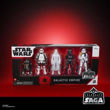 x5 Galactic Empire Star Wars Celebrate The Saga Action Figures