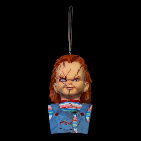 Holiday Horrors Bride Of Chucky Bust Ornament, Chucky