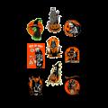 Eric Pigors Toxictoons Halloween Wall Decor -Series 1, Halloween
