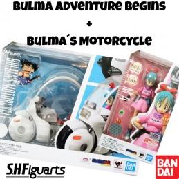 Pack Set BULMA MOTORCYCLE Hoipoi Capsule n°9 + Bulma Adventure Begins S.H.Figuarts DRAGON BALL