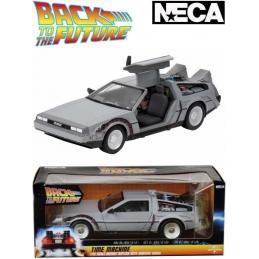 BACK TO THE FUTUR TIME MACHINE DIECAST CAR DELOREAN NECA