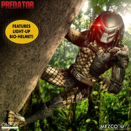 Predator Action Figure 1/12 Predator Deluxe Edition Mezco
