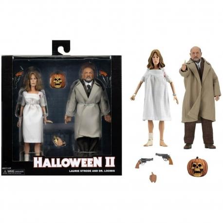 Halloween 2 Retro Action Figure Doctor Loomis & Laurie Strode
