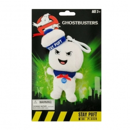 Ghostbusters Talking Plush Keychain Stay-Puft Marshmallow Man Angry