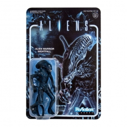 Aliens Wave 1 Action Figure ReAction Alien Warrior Nightfall Blue Super7