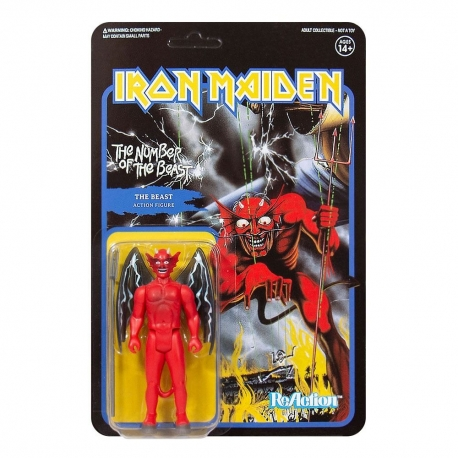Iron Maiden Action Figure ReAction The Number of the Beast