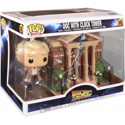 Back to the Future POP! Town Vinyl Figure Doc w/Clock Tower