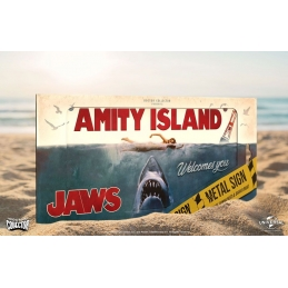 Jaws Metal Sign Movie Poster Doctor Collector