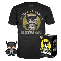 DC Comics POP! & Tee Set Action Figure and T-Shirt Batman Sun Faded