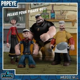 Home, Popeye 4 Figurines 5 Points Deluxe Box Set Mezco