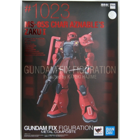 MS-05S Char's Zaku I Gundam Fix Figuration Metal Composite