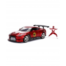 Power Rangers 1/24 Hollywood Rides 2009 Nissan GT-R R35 Métal With Action Figures