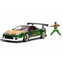 Power Rangers 1/24 Hollywood Rides 2002 Honda NSX Type-R Japan Spec Métal With Action Figures
