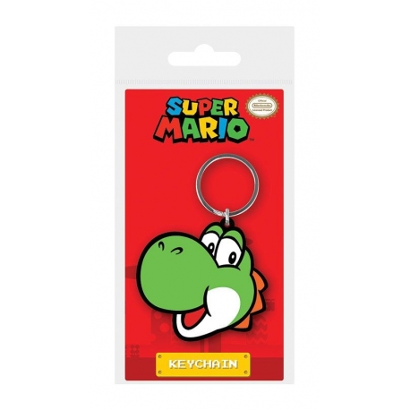 Super Mario Rubber Keychain Yoshi Pyramid International