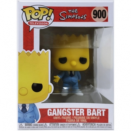 Simpsons Action FigurePOP! Animation Vinyl Mafia Bart N°900