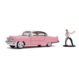 Elvis Presley 1/24 Hollywood Rides 1955 Cadillac Fleetwood Métal With Action Figure