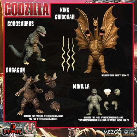 Godzilla: Destroy All Monsters 5 Points XL Action Figures
