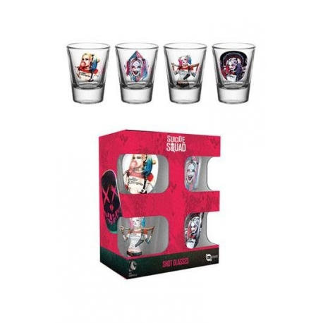 Suicide Squad Shotglass 4-Pack Harley Quinn GB Eye, SUICIDE