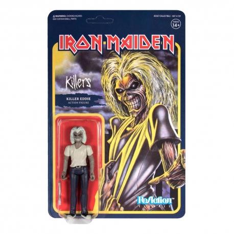 Iron Maiden Action Figure ReAction Killers Eddie Super7, IRON