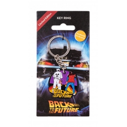Back To The Future Marty & Doc Keyring Metal