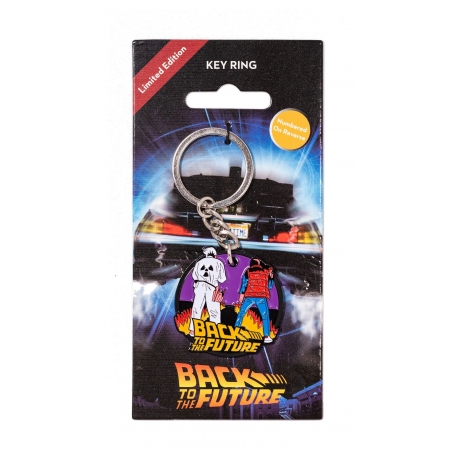 Back To The Future Marty & Doc Keyring Metal, Back To The Future