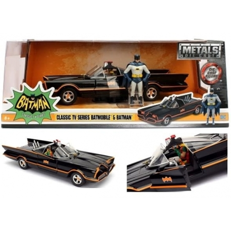 Batman 1966 Diecast Model 1/24 Batmobile with Figure, BATMAN