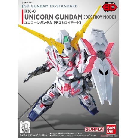 Unicorn Gundam Destroy Mode Model Kit Mobile Suit Sdex-Standard
