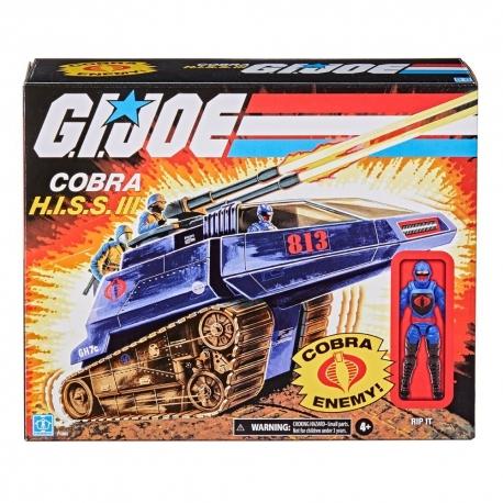 G.I. Joe Retro Collection Series Véhicle With Figure Cobra H.I.S.S. III & Rip It Hasbro