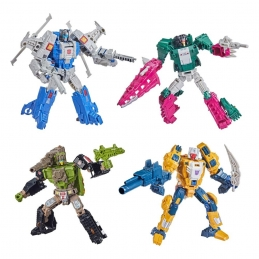 Transformers Generations Deluxe Retro Headmasters 2021 Wave 2 Assortiment 4 Figurines Hasbro