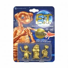 E.T. l´Extra-Terrestre Pack 3 Mini Figures Collector's Set Golden Edition