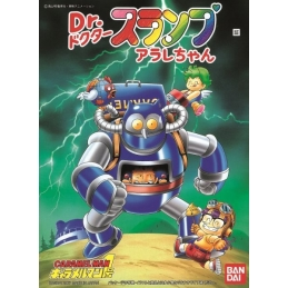 DR. SLUMP, Maquette Dr. Slump & Arale Caramel Man 1 Robot BANDAI