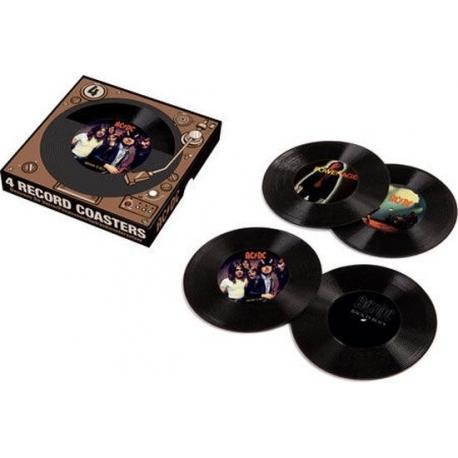 AC/DC RECORD COASTERS AQUARIUS ENT, AC/DC