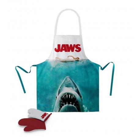 JAWS POSTER APRON/OVEN MITT SET, Jaws