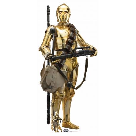 STAR WARS RISE OF SKYWALKER C-3PO CUTOUT, Star Wars