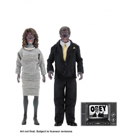 They Live – 8″ Clothed Action Figures – Alien 2 Pack NECA, They