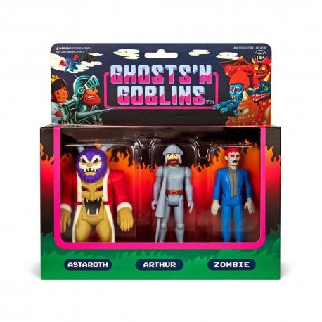 Ghosts 'n Goblins pack 3 Action figures ReAction SUPER7, Video