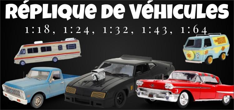 Réplique miniature de véhicules Échelle 1:18, 1:24, 1:32, 1:43, 1:64
