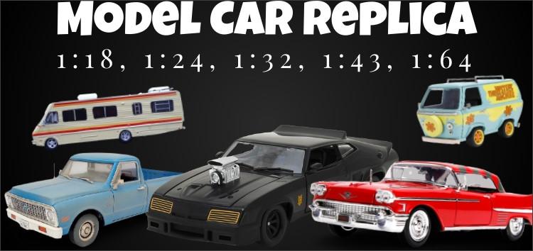 Collectors Model Car Replica Scale 1:18, 1:24, 1:32, 1:43, 1:64
